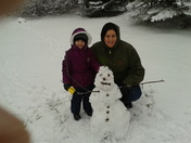 Making the best of the snow in Dover!