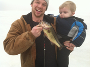 Ice fishing with Uncle Sam
