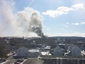 Smoke viewed from 1 Chestnut Street