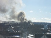 More smoke viewed from 1 Chestnut Street