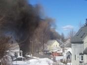 Fire on Vine St In nashua