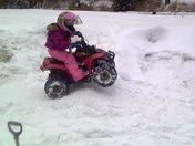 Wheelin in the snow