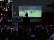 Watching game 2 of the Stanley Cup Finals at a bbq.