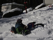 GG & boys playing in the snow