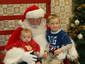 Andrew and Matthew visit Santa