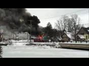 February 2013 Noreaster Fire in Franklin NH