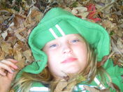 laying in leaves