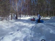 Snow Tubing Jump after Blizzard 2013