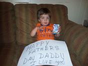Zachary wishing Daddy a Happy Fathers day.