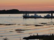 sunset over dover