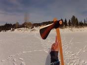Colebrook man throws boomerang