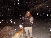 Angel,Benita,Zena in the snow.