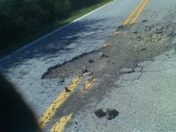 Pot Hole in Greenville county