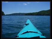 My view when I kayak on Lake Jocassee