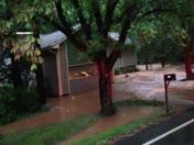 Clemson, SC, flash flood, Rocky Creek Road near Berkele Road.MOV
