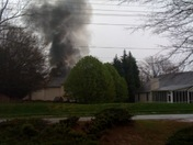 Smoke from Pelham Road House Fire
