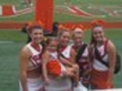 Mallorie with Clemson Cheerleaders