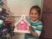 Mallorie and Gingerbread House