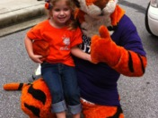 Abby and cousin tiger