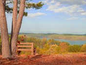 Lake Keowee Look out at Keowee Key North