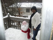 Me and my snowman!!!