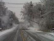 Highway 414 Tigerville Fire on scene down power line.