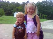 Bryson's 1st day 2yr preschool, Halee's 1st day K5