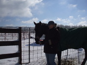 Donna and her horse Gypsy