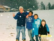 my kids playing in the snow