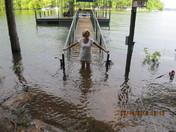 Again, Rain and water rising fast ! July 14, 2013