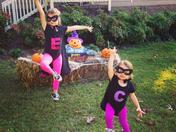 Ella and Caroline on Halloween