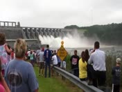 Opening spillways at Richard B. Russell Dam