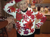 Grandma Feiter decked out in her