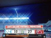 South Carolina vs North Carolina Lightning Strike