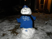 Our UK snowman