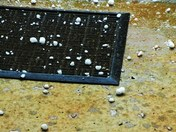 Hail - about nickel size in our courtyard