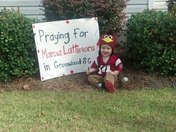 Praying for Marcus Lattimore in Greenwood, SC
