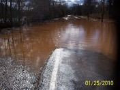 Rockford Road and Yakin River in Rockford, NC