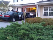 Car crashed into home oxford st in hampton commons subdivision in winston salem