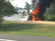 Vehicle on fire at 421/40