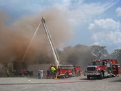 Fire at Golding Transport in Dobson, NC
