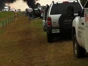 Car fire on 421 in Yadkin County