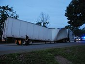 Tractor-trailer collapse in Winston-Salem