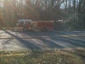 Fire near Wake Forest University
