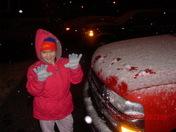 nieve en la noche