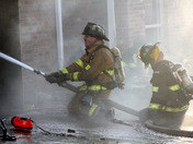 Fire Fighters Working Together