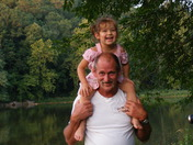 Isabella  and I at the River