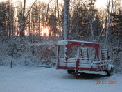 Sunrise with snow in Wilkes Co.