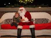 Christopher with santa