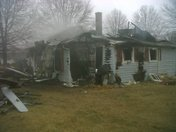 Yadkin County House Burns